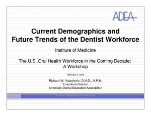 Current Demographics and Future Trends of the Dentist Workforce