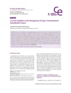 Current Guidelines in the Management of Upper Gastrointestinal Subepithelial Tumors