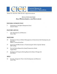 Current Issues in Comparative Education