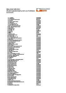 Current List of Exhibitors