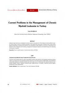 Current Problems in the Management of Chronic Myeloid Leukemia in Turkey