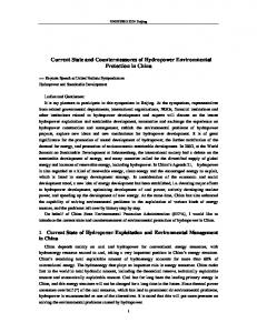 Current State and Countermeasures of Hydropower Environmental Protection in China