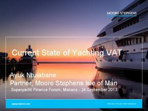Current State of Yachting VAT