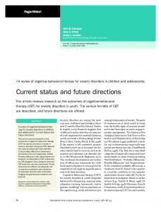 Current status and future directions