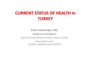 CURRENT STATUS OF HEALTH in TURKEY