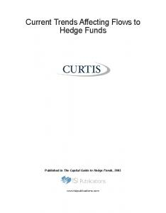 Current Trends Affecting Flows to Hedge Funds