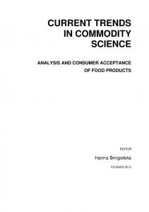 CURRENT TRENDS IN COMMODITY SCIENCE
