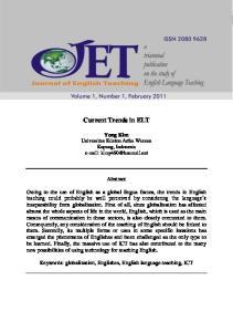 Current Trends in ELT