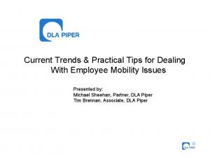 Current Trends & Practical Tips for Dealing With Employee Mobility Issues