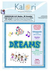 CURRICULUM DAY Monday, 28 November