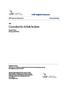 Curriculum for At Risk Students