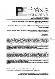 Curriculum of broaden education and theory of teaching activity in school Physical Education