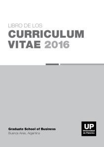 CURRICULUM VITAE 2016
