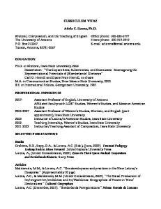 CURRICULUM VITAE. Adela C. Licona, Ph.D