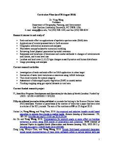 Curriculum Vitae (as of 30 August 2016)