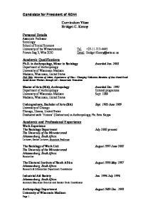 Curriculum Vitae Bridget C. Kenny