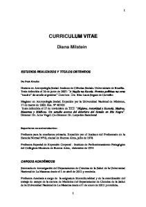 CURRICULUM VITAE CURRICULUM VITAE ANTECEDENTES PERSONALES