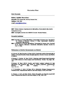 Curriculum Vitae. Datos Personales