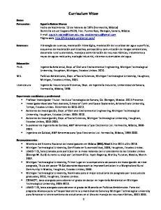 Curriculum Vitae. Datos