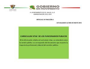 CURRICULUM VITAE DE LOS FUNCIONARIOS PUBLICOS