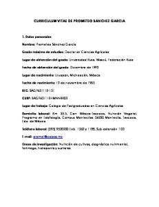 CURRICULUM VITAE DE PROMETEO SANCHEZ GARCIA