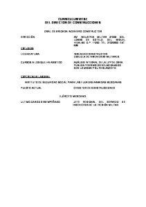 CURRICULUM VITAE DIRECTOR DE CONSTRUCCIONES