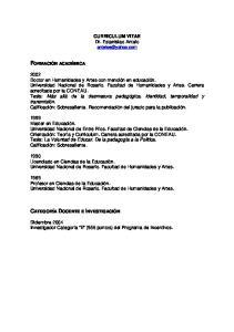 CURRICULUM VITAE Dr. Estanislao Antelo