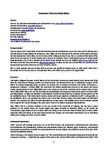Curriculum Vitae Eva Maria Belser