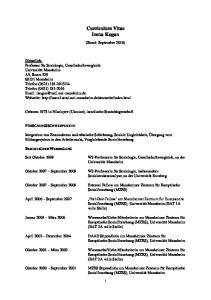 Curriculum Vitae Irena Kogan