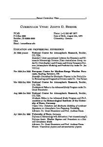 Curriculum Vitae: Judith D. Berner