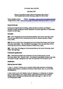 Curriculum vitae, July Shai Sela, PhD