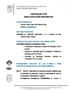 CURRICULUM VITAE MARIA EVELYN DIEZ-MARTINEZ DAY