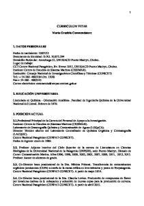 CURRICULUM VITAE. Marta Graciela Commendatore