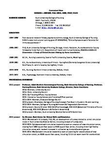Curriculum Vitae MICHAEL J. KREMER, PhD, CRNA, CHSE, FNAP, FAAN