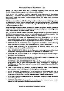 Curriculum vitae of Prof. Antonio Lioy