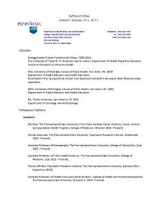 Curriculum Vitae Patricia Y. Miranda, Ph.D., M.P.H