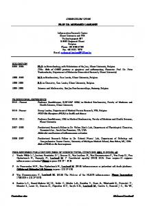 CURRICULUM VITAE PROF. DR. MOHAMED LAMKANFI