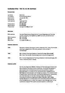 Curriculum Vitae Prof. Dr. S.C.M. Geertman