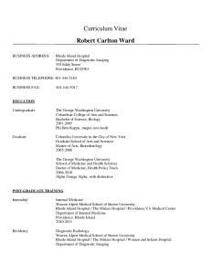 Curriculum Vitae Robert Carlton Ward