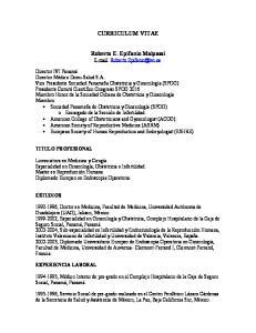 CURRICULUM VITAE. Roberto E. Epifanio Malpassi