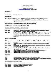 CURRICULUM VITAE. Rosalina Dee James, PhD (206)