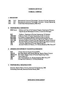 CURRICULUM VITAE THOMAS J. DOWNAR