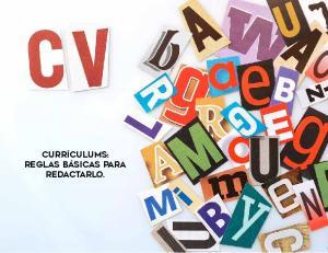 Currículums: reglas básicas para redactarlo