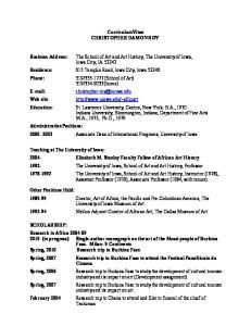 CurriculumVitae CHRISTOPHER DAMON ROY