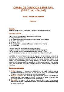 CURSO DE CURACION ESPIRITUAL (SPIRITUAL HEALING)