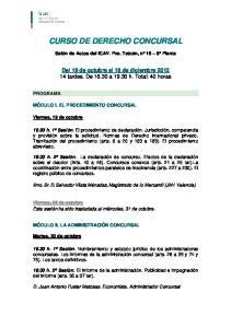 CURSO DE DERECHO CONCURSAL