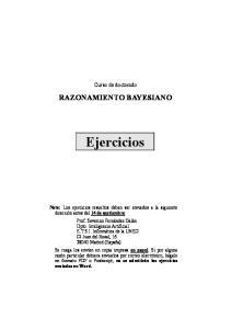 Curso de doctorado RAZONAMIENTO BAYESIANO. Ejercicios