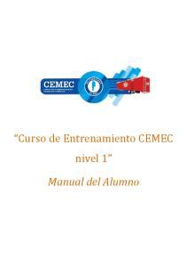 Curso de Entrenamiento CEMEC nivel 1. Manual del Alumno