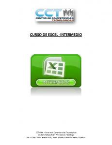 CURSO DE EXCEL -INTERMEDIO