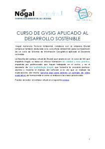CURSO DE GVSIG APLICADO AL DESARROLLO SOSTENIBLE